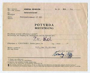 Urkunde Kroatien Svonemir Medaille 1 Stück (tt59)