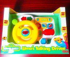 NEW Vintage 1997 Sesame Street Elmo's Talking Driver Toy Steering Wheel - Works!