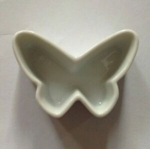 White Butterfly Planter Small Ceramic Planter- Vintage 2.5 X 1.5