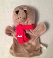 Brand new Coca Cola sealion plush glove puppet  wearing red scarf