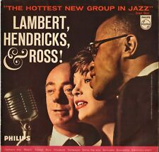 "LAMBERT, HENDRICKS & ROSS ""HOTTEST NEW GROUP"" VOCAL JAZZ 50'S LP PHILIPS 07577"