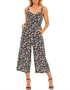 mink pink evie black and white floral jumpsuit   XS   never worn