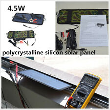 Portable 4.5W 12V Polycrystalline Silicon Solar Panel Car Truck Battery Charger