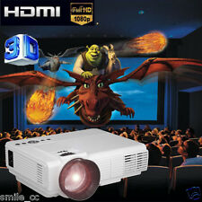 5000LM LED Projector Home Theater USB TV 3D Business VGA/HDMI Projection 1080p