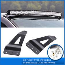 "Mount Bracket For 52""/54"" Curved LED Light Bar 07-14 Chevy Silverado/GMC Sierra"