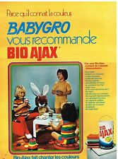 Publicité Advertising 1972 La Lessive Bio Ajax pour Babygro