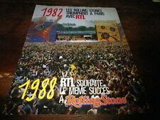 ROLLING STONES - Publicité de magazine / Advert !!! 1982 - CONCERT RTL !!!