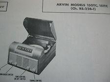 Arvin 150-TC, 151-TC, Ch. RE-228-1 Phonograph Photofact