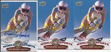 Kerrin Lee-Gartner 3 Card Lot 2010 Upper Deck World Of Sports Autograph # 244