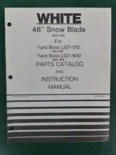 1977 WHITE 48 INCH SNOW BLADE MODEL 990 208 YARD BOSS LGT PARTS MANUAL