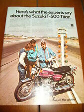 1971 Suzuki T-500 Titan *Original Ad* Drag Strip