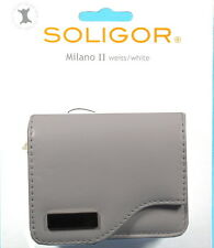 Soligor Milano II Fototasche weiss/white Leder leather case poche sac - (12450)