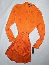 Ralph Lauren  orange long sleeve belted shirt Dress size 6  retail $150