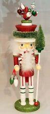 "Christmas Ornament Soldier Nutcracker Red White 18"" Wood Kurt Adler Hollywood"
