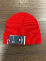 100% Cashmere Beanie Hat | Johnstons of Elgin | Made in Scotland | Red | Unisex
