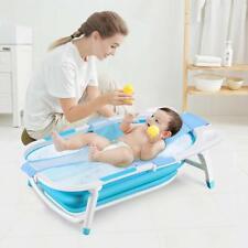 Baby Badewanne klappbar Badewannensitz höhenverstellbare Babybecken Blau