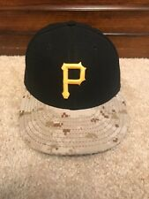 New Era 59fifty Pittsburgh Pirates Digital Camo Hat 6 7/8 MLB PNC USA Official