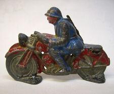MOTO EN PLOMB CREUX - SOLDAT FRANCAIS 1914/1918