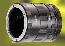 Macro Extension Tube Ring Set for Sony Alpha A AF A900 A700 A850 A100 A200 A380