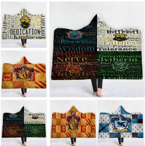 Harry Potter Velvet Fleece Hooded Blanket Soft Warm Hoodie Cloak Blanket