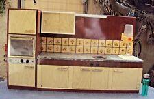 ancien jouet dinette cuisine en tôle vintage des années 50:60
