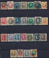 B&D:1866-78 Brazil Scott 53-78 Dom Pedro stamp sets used w/fancy colored cancels