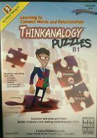 Thinkanalogy Puzzles, B1, CD-ROM, Grades 6-8 Windows/MAC, Critical Thinking Co.