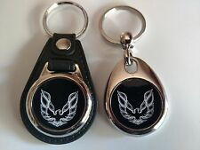 PONTIAC TRANS AM KEYCHAIN 2 PACK FOB car logo blk and wht