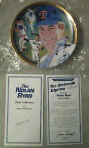 VINTAGE 1993 NOLAN RYAN STRIKEOUT HAMILTON COLLECTION COLLECTORS PLATE W/ BOX