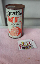 GRAF'S ORANGE  JUICE TAB STRAIGHT STEEL  SODA CAN CANS SHED Q