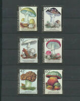 Mushrooms - Bulgaria Scott # 3597 - 3602 Mint NH Complete Set of 6 Stamps
