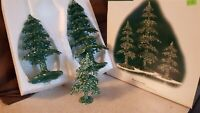 Dept 56 General Village Accessory Trees 2002 ACRYLIC GREEN GLITTER TREES 53032