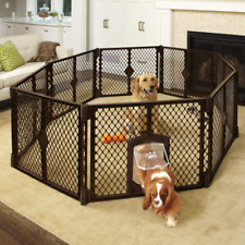 Dog Cat Pet Cage Crate Playpen Puppy Pen 8 Panel Large Indoor Outdoor Foldable