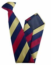 Ramc Royal Army Medical Corps Regimental Striped Clip On  Tie