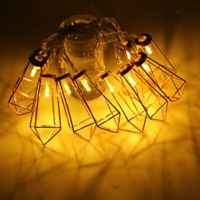 Rose Gold Iron Diamond Cage String Light Fairy Lights for Home Party Decor
