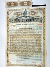 Dakota Territory. Burlington, Cedar Rapids & N. Railway Co, 1884 $1000 Specimen
