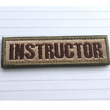 INSTRUCTOR TAB MILITARY TACTICAL USA ARMY MORALE SWAT HOOK PATCH DESERT BADGE