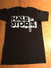 NEW Black 100% COTTON HALESTORM T-Shirt ROCK BAND LOGO TEE