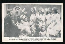 Military WW1 Madame Parsons 7 little Lancashire Lasses propoganda+Sgt father PPC