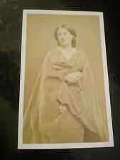 Cdv old photograph French actress Anais Fargueil by Carjat Paris France c1860s