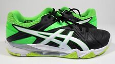 ASICS Men's Gel-Cyber Sensei Volleyball Shoe Black/White/Green Gecko 7.5 M
