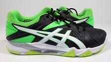 ASICS Men's Gel-Cyber Sensei Volleyball Shoe Black/White/Green Gecko 8 M