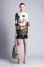 $1695 STELLA MCCARTNEY ANEMONE FLORAL BOTANICAL SILK DRESS IT38 USA 2 4 S XSMALL