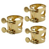 Soprano Alto Tenor Saxophone Head Clamp Ligature Clip for Sax Mouthpiece