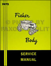 1972 Buick Body Repair Manual 72 GS SKylark Riviera LeSabre Electra Centurion
