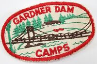 Vintage Gardner Dam Camps Twill Boy Scouts America Camp Patch
