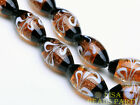 5pcs 23x15mm Oval Crystal Lampwork Glass Beads Big DIY Loose Beads Amber