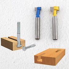 3x T-Nut Fräser Holzbearbeitung Schlüsselloch Schneider 1//4 Griff Für Oberfräser