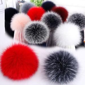 8/10cm DIY Faux Fox Fur Fluffy Pom Pom Ball Hat Bag Keychain Pendant Accessories