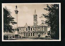 Italy ROMA Rome Basilica S Maria Maggiore Tram 1933? RP PPC pub Verdesi